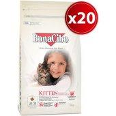Bonacibo Kitten Tavuklu Yavru Kedi Maması 1 Kg X 5 Adet