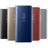 Samsung Galaxy Note 8 Clear View Akıllı Kılıf Gold