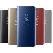 Samsung Galaxy S8 Clear View Akıllı Kılıf Gold