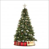 Bol Işıklı Süslü Yeşil Sık Gür Dallı 180cmx90cm Yılbaşı Çam Ağacı