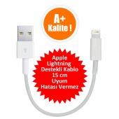 Apple İphone X 5 6 7 8 Plus Kısa Usb İphone Data Şarj Kablosu