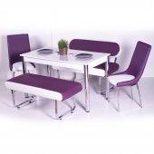 Banklı Masa Takımı Mutfak Yemek Masası 10 Renk Seçenek