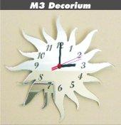 M3 Decorium Güneş Dekoratif Ayna Saat