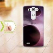 Kişiye Özel Lg G3 İnce Şeffaf Silikon Telefon Kapağı (Galaxy Tema