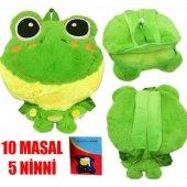 Kurbağa Sırt Çantası Ve Yastık 10 Masal Anlatır 5 Ninni Söyler Masalcı Kurbağa Çanta