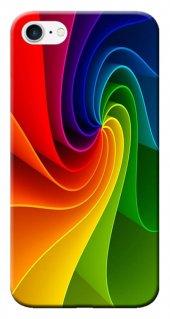Iphone 6 6s Kılıf Silikon Baskılı Renk Dalgası Stk 124
