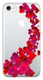 Iphone 6 6s Kılıf Silikon Baskılı Kalp Cümbüşü Stk 319