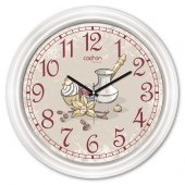Cadran Luxury Dekoratif Camlı Mutfak Duvar Saati Cdx148