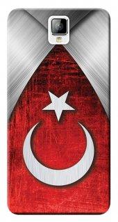 General Mobile Discovery 2 Kılıf Silikon Baskılı Türk Bayrağı Tas