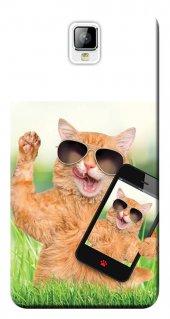 General Mobile Discovery 2 Kılıf Silikon Baskılı Sevimli Kedi Stk