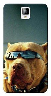 General Mobile Discovery 2 Kılıf Silikon Baskılı Gözlüklü Pitbull