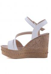 Micol Beyaz Cilt Dolgu Topuk Bayan Ayakkabı
