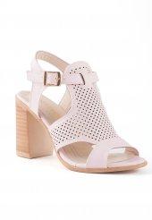 Camille Pudra Cilt Topuklu Bayan Ayakkabı