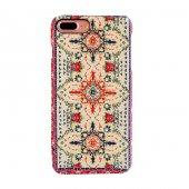 Iphone 7 Plus 8 Plus Kapak Maria El Yapımı Kilim Desenli Kumaş