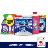 Finish Q 40 Tablet + Marc 900 Floral + Calgon 500 Gr + Cillit Ban