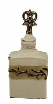 Lucky Art Krem Eskitme Bronz Şeritli Dekor Ürün