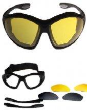 Tex G8007 Uv Yedek Camlı Ce Sertifikalı Motor Bisiklet Gözlük