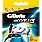 Gillette Mach3 Yedek Tıraş Bıçağı 8li