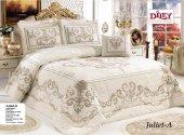 Diley Juliet A Kadife Çift Kişilik Yatak Örtüsü