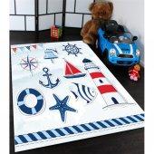 Isimli Denizci Desenli Çocuk Odası Halısı