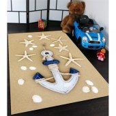 Gemi Çapalı Çocuk Odası Halısı