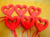 6 Lı Kırmızı Çubuk Kalp Sevgililer Günü Sevgiliye Hediye