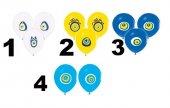 Beyaz Mavi Lacivert Sarı Nazar Boncuklu Balon 100 Adet