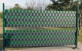 Pvc Şerit Yeşil 19cmx40metre Bahçe Balkon Çit Tel Kapatmak İçin