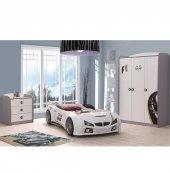 Farinay Mobilya Beyaz Arabalı Grandprıx Serisi Çocuk Odası Takımı