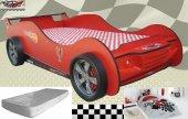 Araba Karyola Farinay Nitro N5 Kırmızı Ve Beyaz Renk. Nevresim Ya
