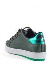 Sasha Yeşil Cilt Bağcıklı Bayan Spor Ayakkabı