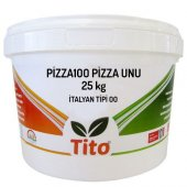 Tito Pizza100 İtalyan Tipi 00 Pizza Unu 25 Kg