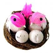 Cici Yuvada Yumurtalı Kuş Teraryum Obje 8x5 Cm