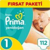 Prima Aktif Bebek 1 Beden Yenidoğan 112 Adet Bebek Bezi