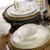 Kütahya Porselen İlay Sade 12 Kişilik 48 Parça Krem Yemek Takımı