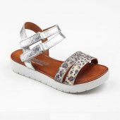 Steppo P2087 Patik 26 30 Sandalet Ayakkabı Gümüş Beyaz