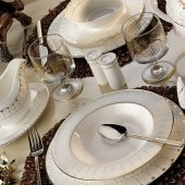Kütahya Porselen Bone China 84 Parça 25135 Yemek Takımı