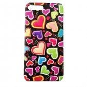 Apple İphone 6 Plus 6s Plus Kılıf 3d Heart Kabartmalı Desenli Sert Arka Kapak