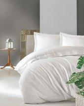 Cotton Box Çift Kişilik Saten Nevresim Takımı Elegante Beyaz