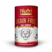 Nutri Canin Tahılsız Biftekli Patatesli Köpek Konservesi 400 Gr