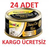 24al 20 Öde Gimcat Shinycat Kedi Konserve Mama Tavuk Mango 70gr
