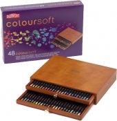 Derwent Coloursoft Pencils Yumuşak Kuruboya Kalemi 48 Li Ahşap Ku