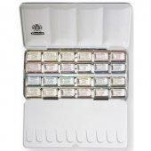 Schmincke Horadam Aquarell Taş Sulu Boya 1 1 Tablet 24 Renk Metal