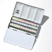 Schmincke Horadam Aquarell Taş Sulu Boya 1 2 Tablet 36 Renk Metal