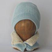 Organik Bebek Şapka Atkı Takımı Organic Bonny Baby Şapka Atkı Takımı