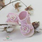 Organik Bebek Patiği Antialerjen El Yapımı Organic Bonny Baby