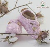 Organik Bebek Patiği Organic Bonny Baby El Yapımı Bebek Patiğ