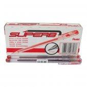 Pentel Bk77 Yağ Bazlı Roller Tükenmez Kalem Kırmızı 12 Li Kutu