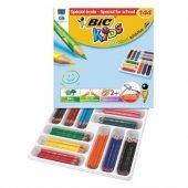 Bic Kids Evolutions Üçgen Gövde Jumbo Kuru Boya Kalemi 144 Lü Sın