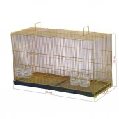 Sarı Galvanizli Salma Kuş Kafesi 45 X 33 X 80cm